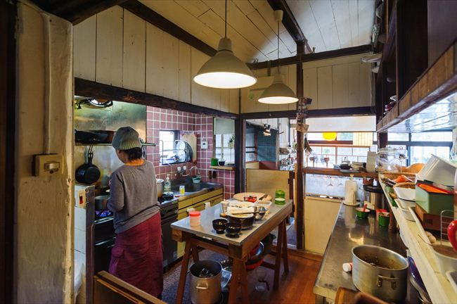 Small Japanese kitchen.