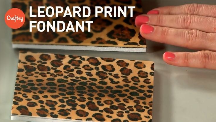 Leopard print fondant (2 ways) for animal print cakes | Jessica Harris Cake Decorating Tutorial - YouTube