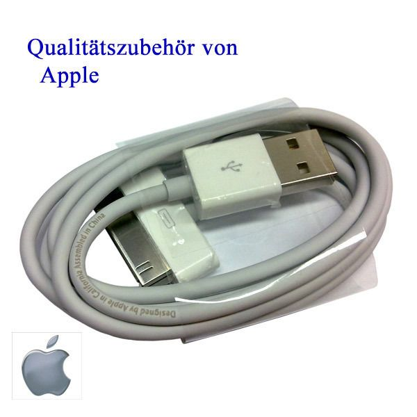 Original Apple IPHONE 4G 4S 3GS IPOD 3G IPad DATENKABEL USB LADEKABEL NEU