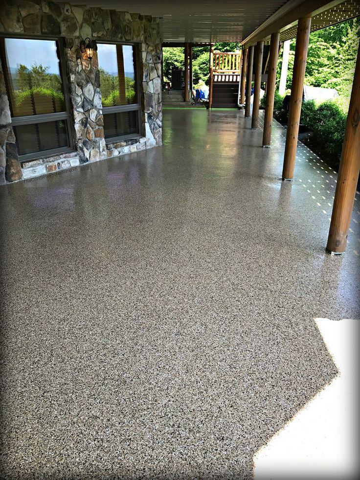 epoxy concrete porch floor flooring poly graniflex paint patio finish painted decorative floors sol granit cement perfect painting porches stain