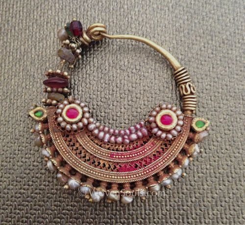 Antique Indian Pearl Gold Nath nose ring, and the Story behind it