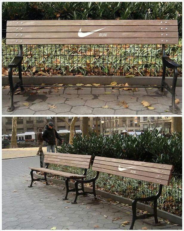 Geniale campagna Nike Run. Arredo urbano e marketing #nike #run