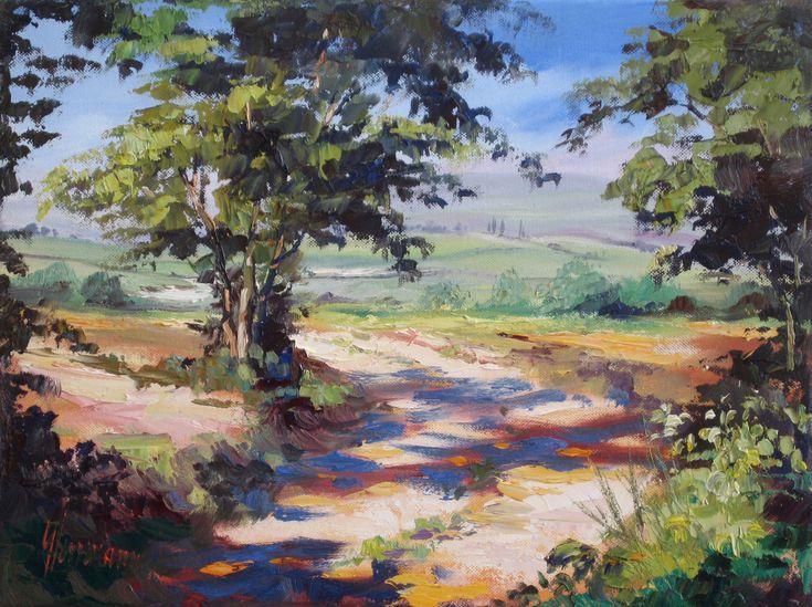 Ute Herrmann | Gemälde - Öl auf Leinwand | Landschaft in der Provence | www.ute-herrmann-kunstmalerin.de