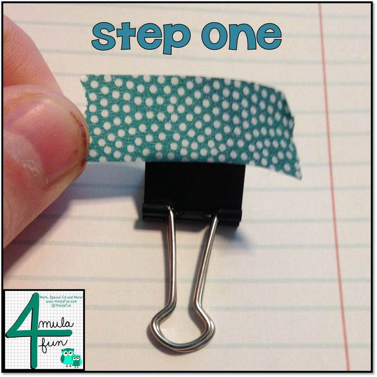 Making binder clips...step-by-step
