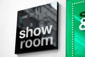 show room signage, by alphabetical