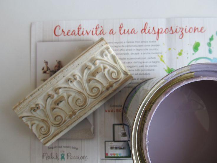 Cornice da dipingere in lilla! #cornice #specchiera #lilla