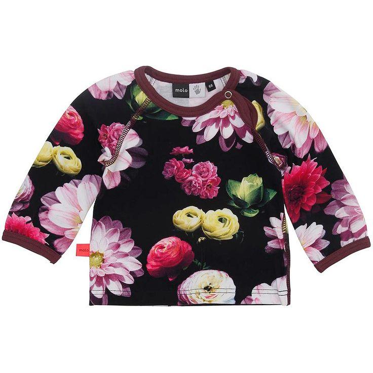 Molo Baby Girls Black Flowering 'Evette' Top  at Childrensalon.com