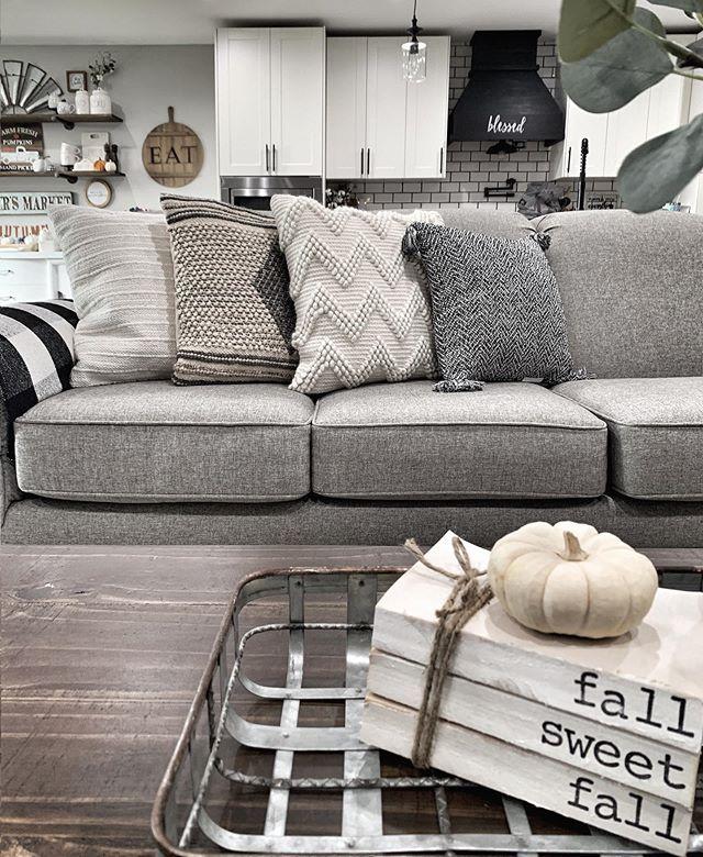 Lemon Decor Summer Decor Tour Bold Boundless Blonde Couch Decor Throw Pillows Living Room Grey Couch Decor