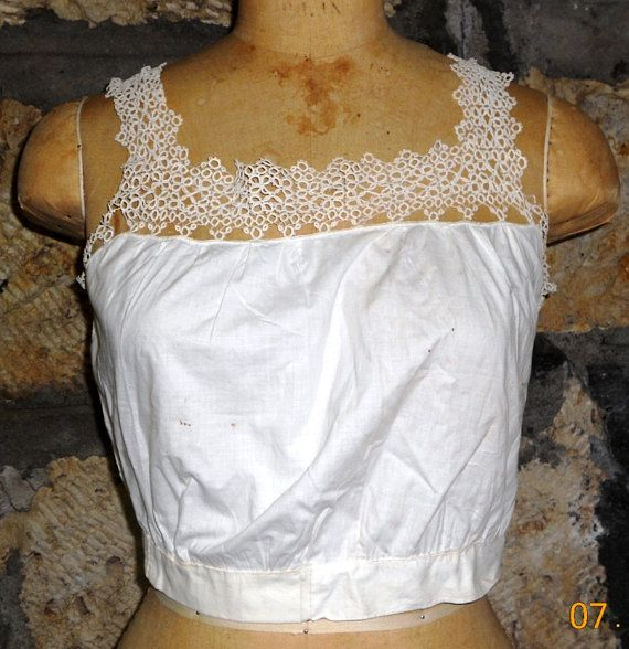 Victorian Camisole with Tatted Edging by fleurdelis123 on Etsy, $20.00
