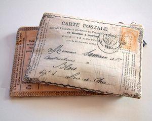 Postcard from France purse  £17.00Postcards Purses, Vintage Postcards, France Purses, Postcards Theme, Cabinets, Pencil Cases, Coins Pur, Letters, Blue Moss