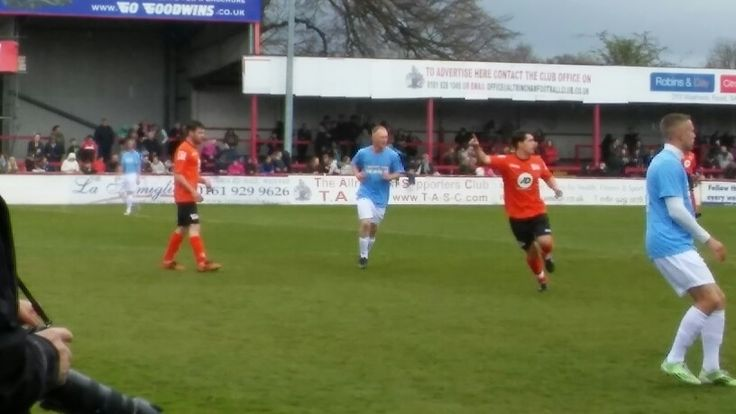 Danny Miller and Joe Gill (it's so blurry but yes it is them ) today at Altrincham FC #onceuponasmile #OUAS #theresonlyoneissacmaley Charity Football Match (Sun 24 April 2016) (My (BTYC) personal photo)