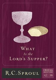 What Is the Lord's Supper? | http://paperloveanddreams.com/book/906513852/what-is-the-lords-supper | Dr. R. C. Sproul cuts through the confusion to define the supper, demonstrate what it means, and show how important it is for the lives of believers and churches. He explores the origins of the supper, explains what it does for us, and refutes erroneous views of the Sacrement. Here is teaching that will enhance any reader's appreciation for the work of Christ that is pictured in the bread…