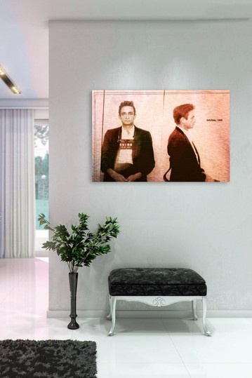 I want thisss Johnny Cash Mugshot Aluminum Wall Art on HauteLook