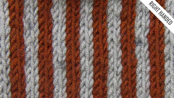 The Simple Vertical Stripes Stitch :: Knitting Stitch #528 :: Right Handed