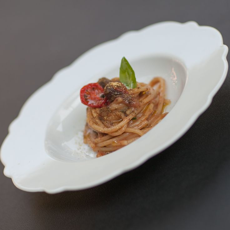 "The spaghetti by chef Pisani made exclusively for the S.Pellegrino Restaurant's guests at ""Live From Milan""."