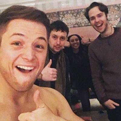Taron Egerton YOU GUYS TARON IS SHIRTLESS GET OUT OF THE PICTURE