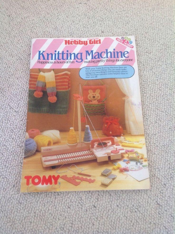 Vintage Knitting Machine : Tomy hobby girl childrens s knitting machine retro