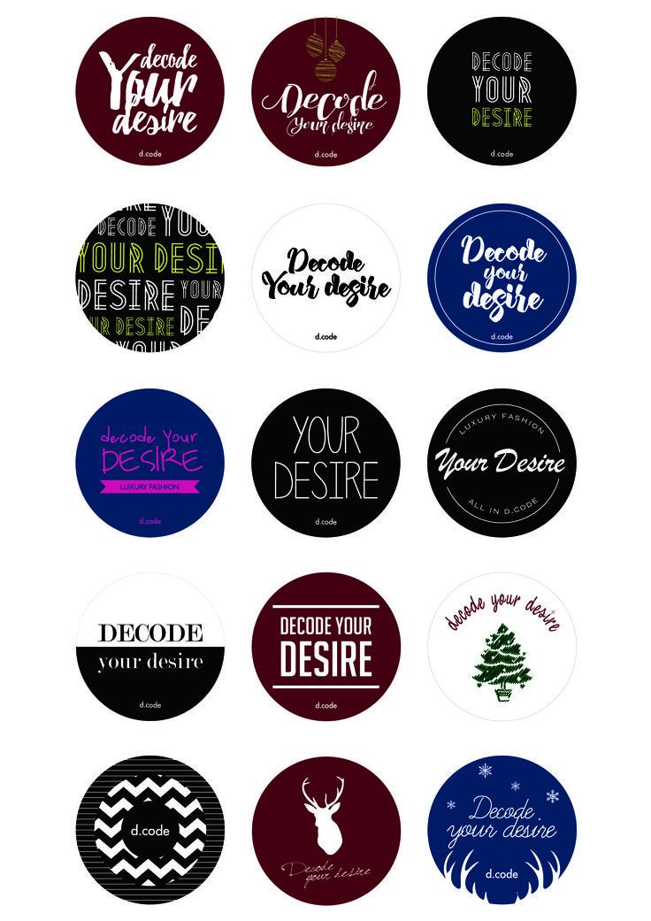 2015 디코드 홍보물 - 스티커 디자인 시안
