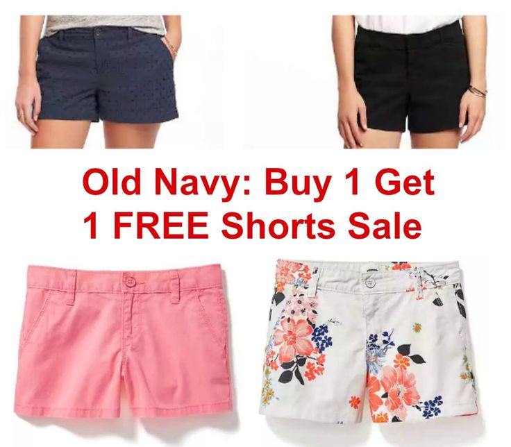 Old Navy - Buy 1 Get 1 FREE Shorts Sale! (TODAY ONLY) - http://dealmama.com/2017/04/old-navy-buy-1-get-1-free-shorts-sale-today/