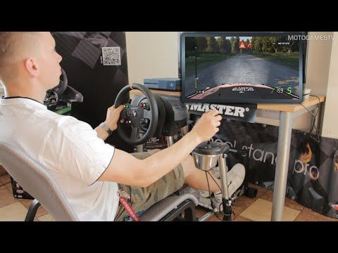 WheelStandPro with Thrustmaster T300RS [F1 2015 & WRC 5] - YouTube