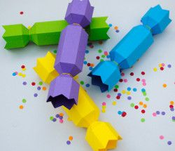 Christmas cracker templates - Use these for a great confetti holder for
