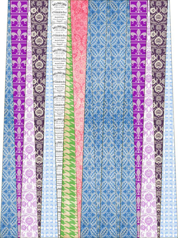 Paper Bead Designer Kit Vintage Pastel Templates for Paper ...