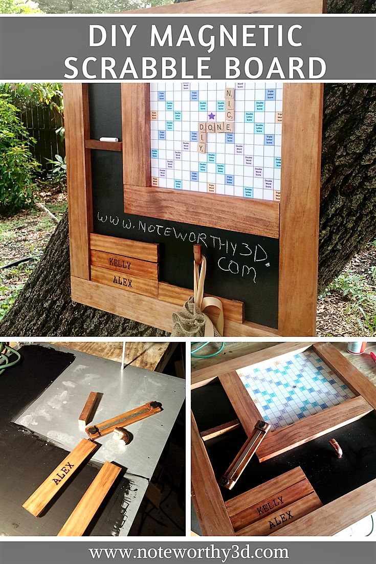 DIY Magnetic Scrabble Board Game – Noteworthy3D