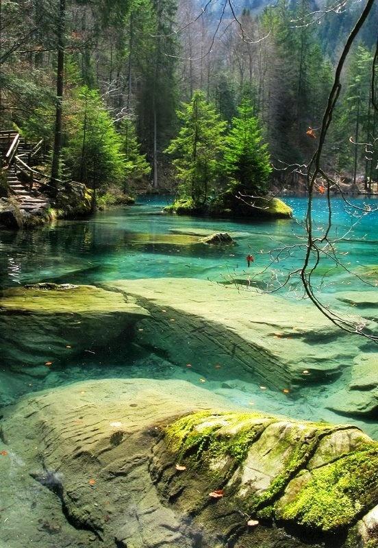 Blausee, Kandersteg, Berner Oberland, Switzerland