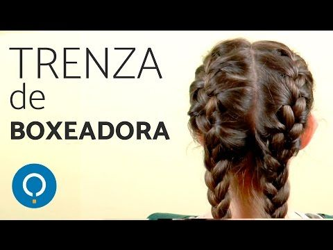 Cómo hacer la TRENZA de BOXEADORA - Trenzas holandesas dobles - YouTube
