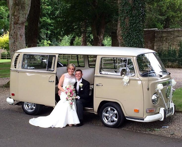 Hire our iconic, retro VW Campervan for your North East wedding and let him  make
