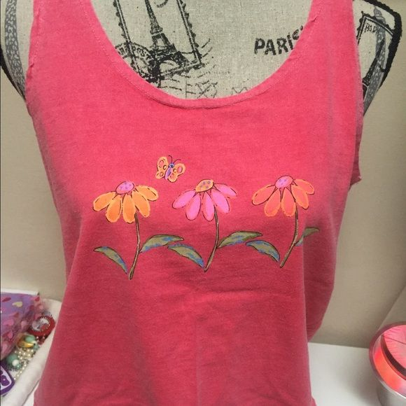 Fresh produce tank coral flowers sporty cute Great shape women's size medium! Fresh produce Tops Tank Tops