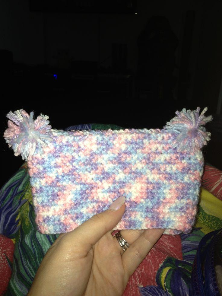 First crochet'd baby beanie