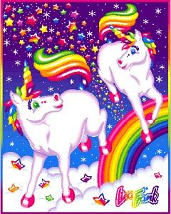 I wanted Lisa Frank stuff, but my mom thought it was tacky so wouldn't let me have it. Isn't that hilarious.