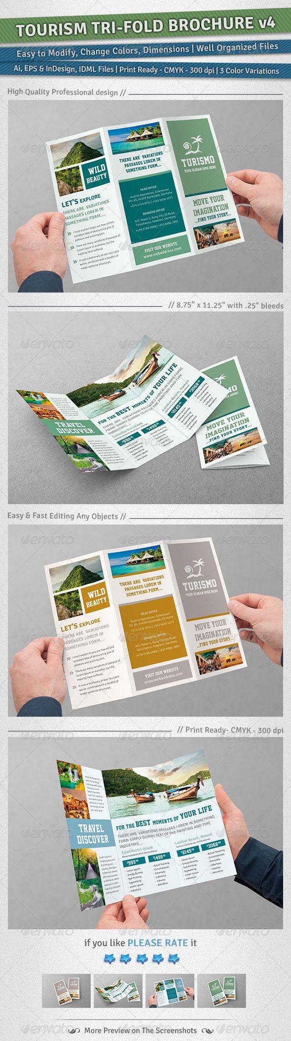 Tourism Tri-Fold Brochure   Volume 4  EPS Template • Download ➝ https://graphicriver.net/item/tourism-trifold-brochure-volume-4/6048011?ref=pxcr