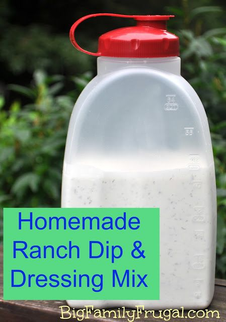 Big Family Frugal: Homemade Ranch Dressing, Dip, & Seasoning Mix ...
