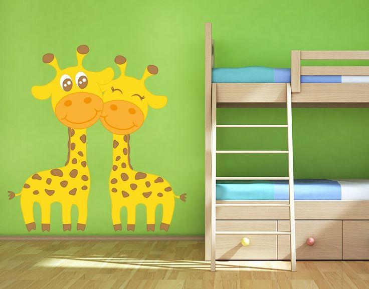 Amazing Wandsticker Verliebte Giraffen