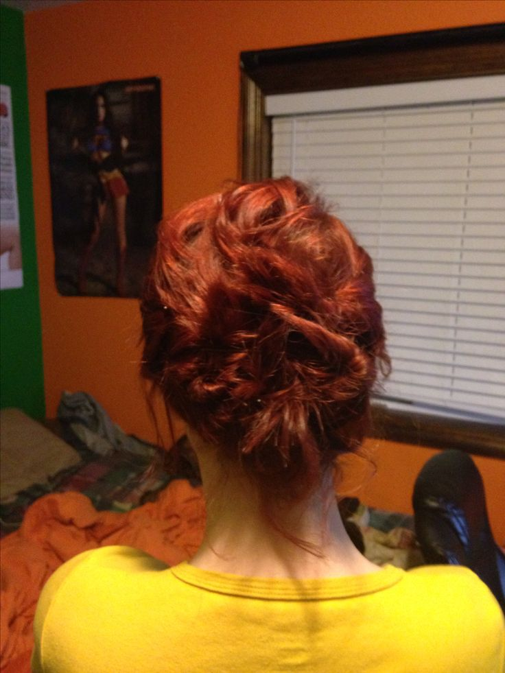 Updo for short and layered hair. I have really short and heavily layered hair, in the process of growing it out. I couldn't figure out a way to put it...