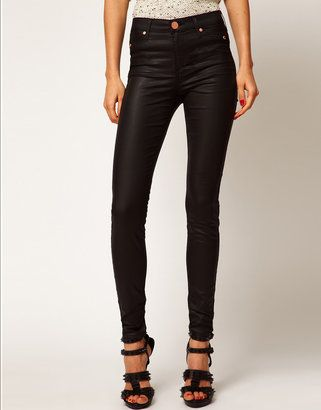 River Island Black Coated Molly Jeggings River Island