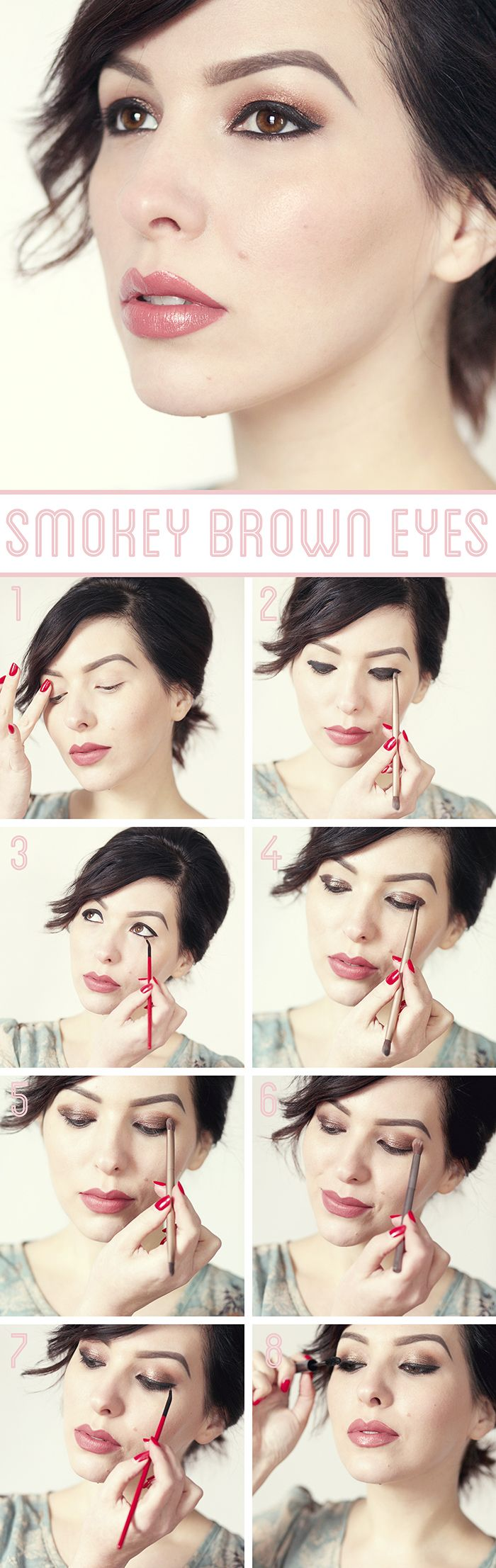 An easy warm smoky eye from Keiko Lynn! #beauty #makeup #howto: