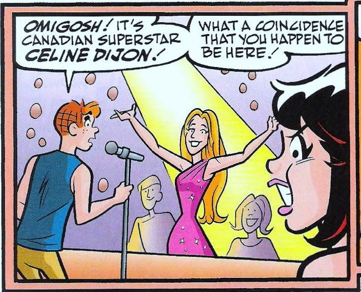 Jon's Blog: ARCHIE #653: Archie's Rockin' World Tour Concludes in Canada!  Archie and Celien Dion.