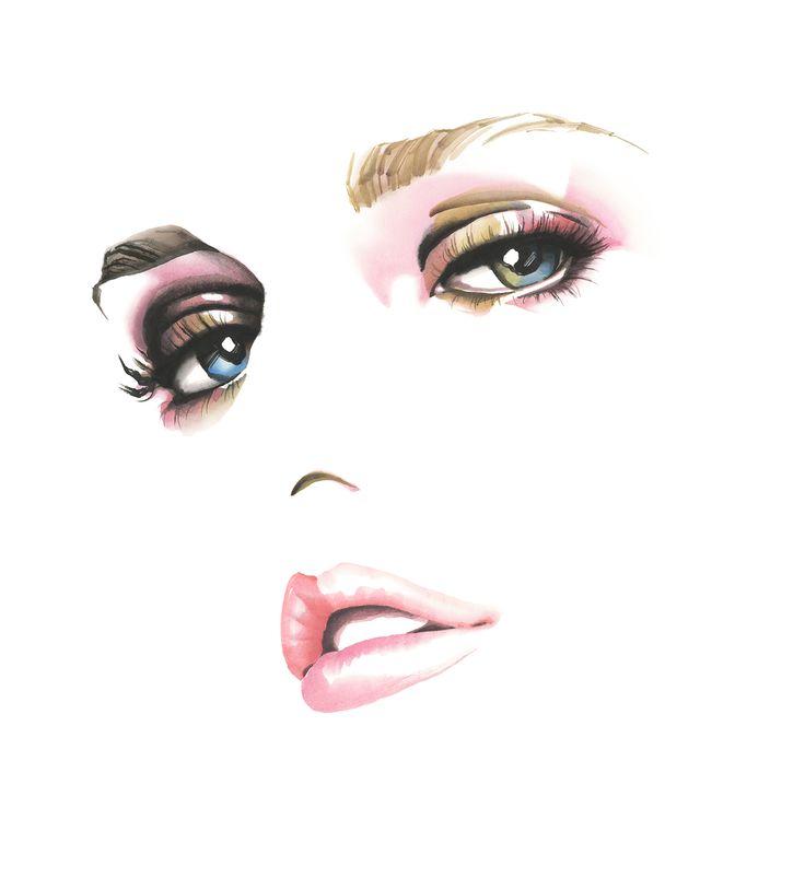 #OHGUSHI #OHGUSHI #Fashion_illustration #Cosmetic #portrait_painting #watercolor #india_ink #japanese_ink #Bijinga #墨絵 #水墨画 #美人画