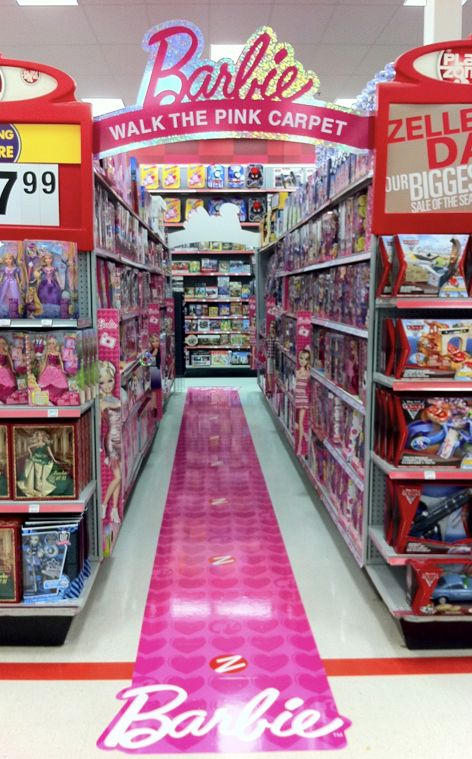Estos son floorpaths me parece  POS display for Barbie - can G-P own a portion of an entire aisle?