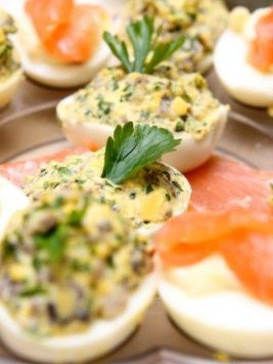 Jaja faszerowane pieczarkami przepis na: Jaja faszerowane pieczarkami - ofeminin.pl