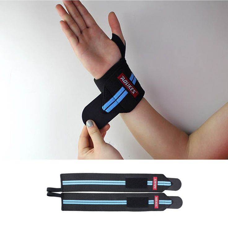 1Pair Adjustable Wrist Brace Fitness Weightlifting Dumbbell Bandage Wraps Crossfit Gym Gloves Wrist Support Wrist Band Z12501