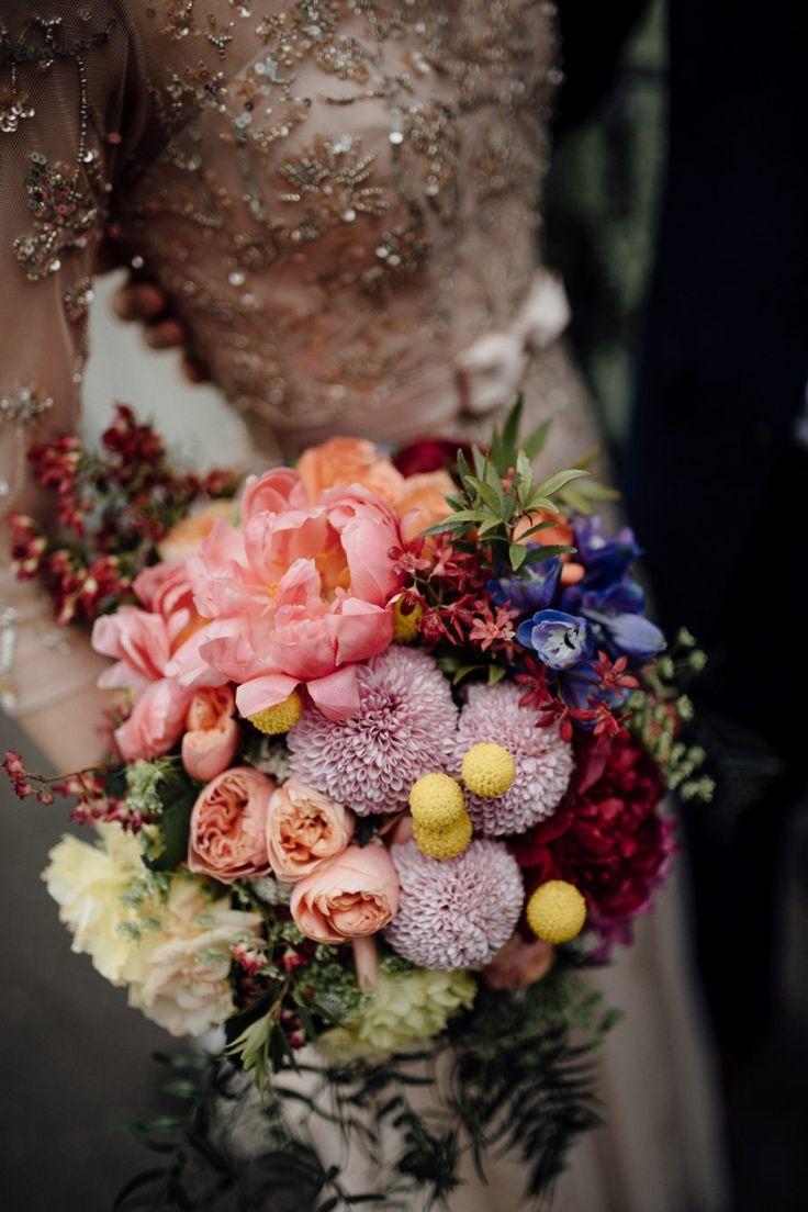 pastel peony and dahlia bouquet