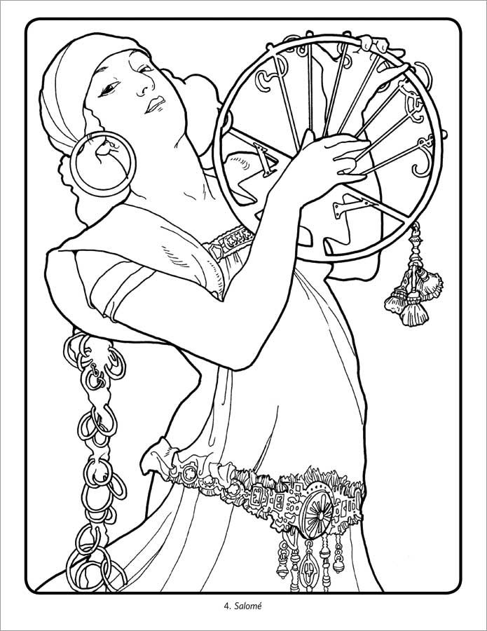 mucha coloring pages alphonse mucha coloring book