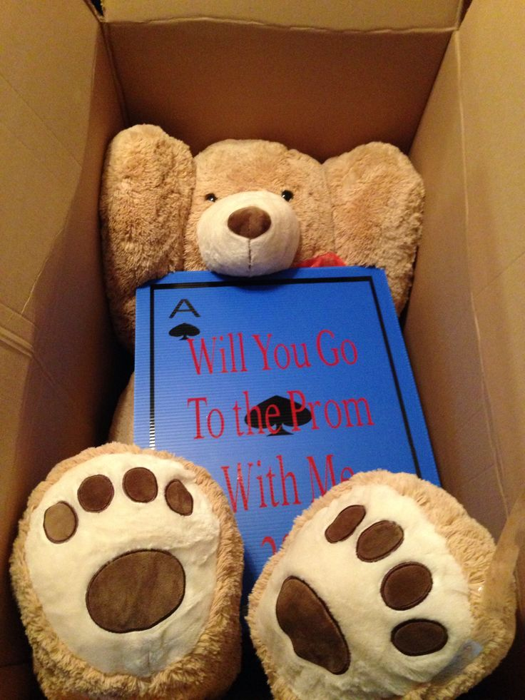 596 best homecoming proposals images on pinterest prom posals nothing better than being asked to prom with a 6 foot tall teddy bear ccuart Gallery