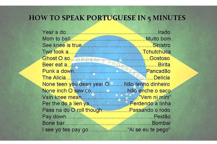 How to speak Portuguese