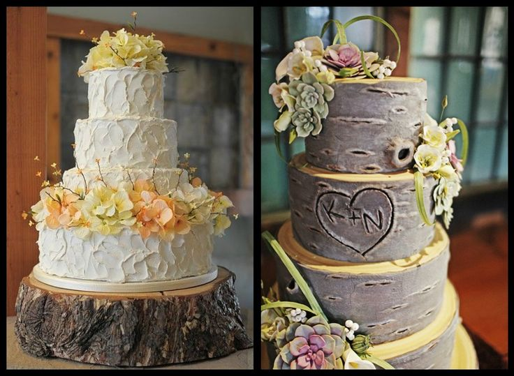 Outdoor Themed Wedding Cakes
