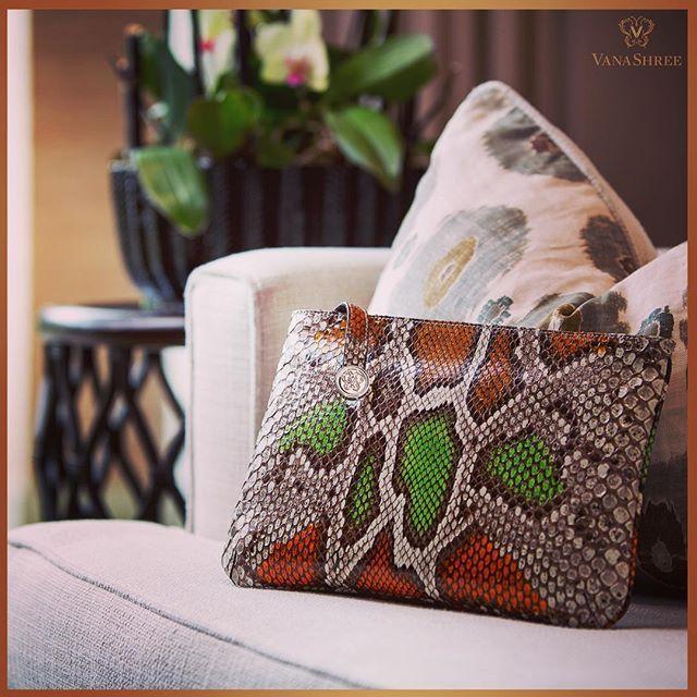 The Drisa - contemporary, multifaceted bag seamlessly transitions between clutch, handbag and cross-body. #VanaShree #Clutch #Handbag #Crossbody